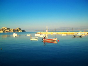 Corfu Town Harbor