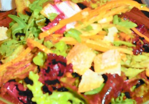 Salad with Carrot Vinaigrette, Girl & the Fig