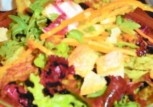 Salad with Carrot Vinaigrette, Girl & the Fig