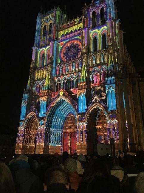 Holiday light show - Amiens